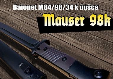 Bodák k pušce Mauser 98k vzor M84/98/34 - bakelitová střenka