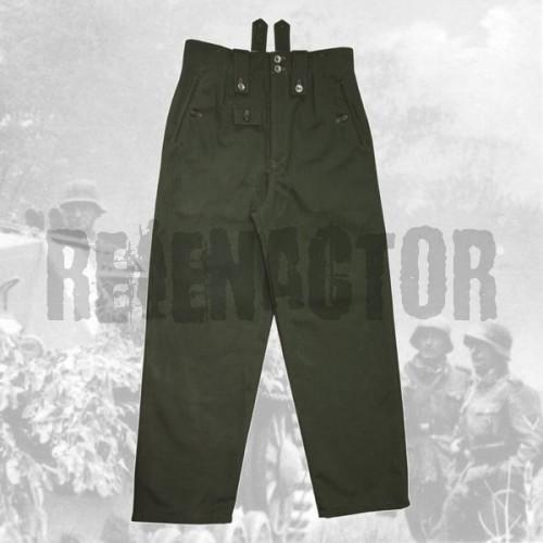 Kalhoty drillich M42 zeleň - feldhose