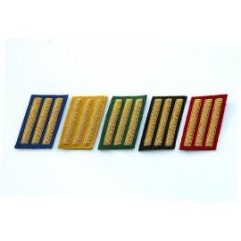 Důstojnické límcové výložky CS - kapitán