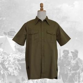 Košile DAK Afrikakorps s krátkým rukávem - olivová