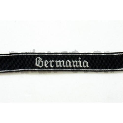 Rukávová páska 9 SS Pz Rgt Germania - vyšívaná gotickým písmem
