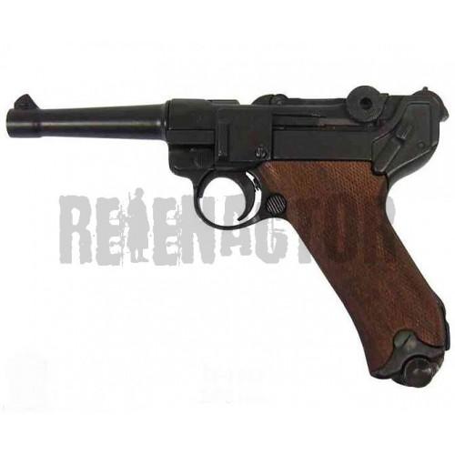 Německá armádní pistole Parabellum Luger P08 dřevěné střenky