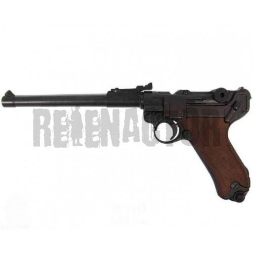 Německá dělostřelecká pistole Parabellum Luger P08 dřevěné střenky