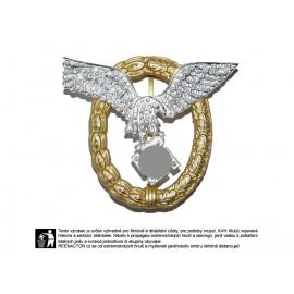 WL - Společný pilotní odznak s diamanty pro piloty a pozorovatele