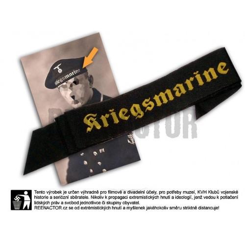 WM - stuha s nápisem Kriegsmarine na čapku na námořnickou čapku - matrosenmütze