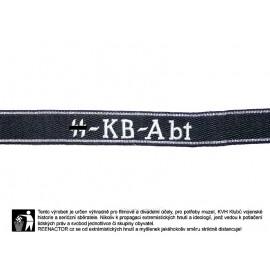 Rukávová páska válečných dopisovatelů SS-KB-ABT - vyšívaná