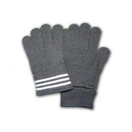 Šedé vlněné rukavice