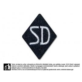 Nášivka na rukáv SD - Sicherheitsdienst pro důstojníky