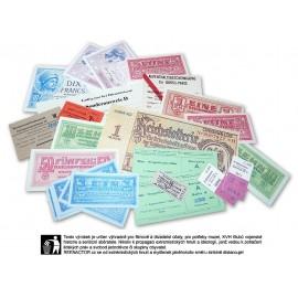 Set dobových tiskovin a replik cenin do německé peněženky