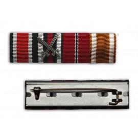 Lišta se stužkami k vyznamenání EK2 1939, EKFK 1914-18, OM 1941-42 a SWE
