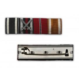 Lišta se stužkami k vyznamenání EK2 1914, EKFK 1914-18, OM 1941-42 a SWE