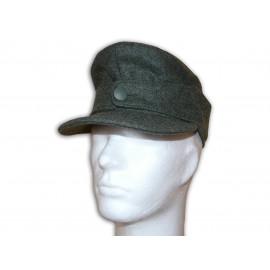 WH / W-SS polní čapka M43 pro mužstvo jednoknoflíková - Einheitsfeldmütze mannschaften - EREL®