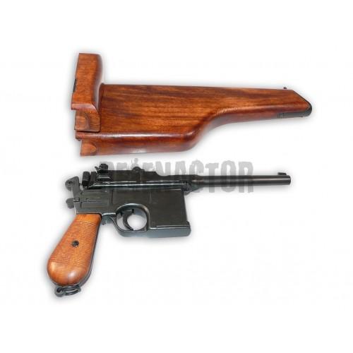 Pistole Mauser C96 s dřevěným pouzdrem