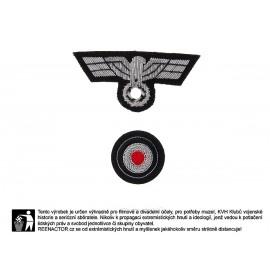 WH ošití na polní čapku pro důstojníky tankových sborů - Panzertruppe