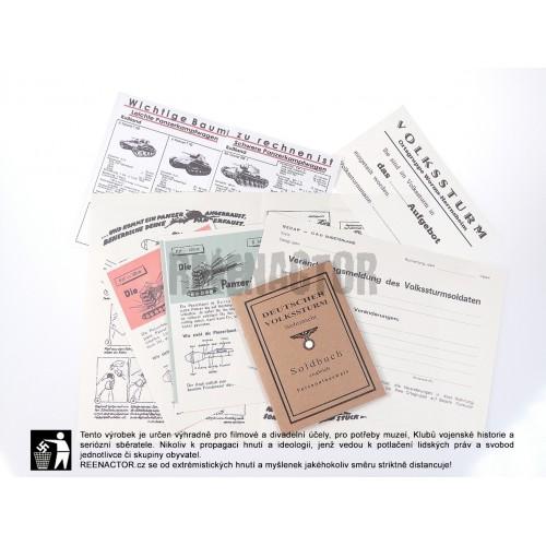 Deutsche Volkssturm - set dokladů a tiskovin