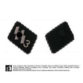 SS límcové výložky vyšívané s černostříbrnou lemovkou - pluk der Führer