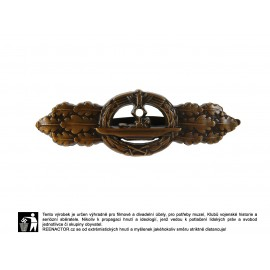 Frontová spona pro posádku ponorek v bronzu - U-Boot Frontspange in Bronze