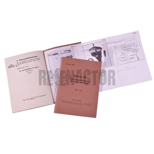 Armádní příručka H.Dv.254 k pistoli Walther P38