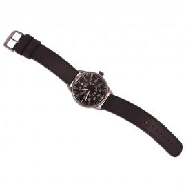 Náramkové hodinky pro piloty Luftwaffe - černý ciferník