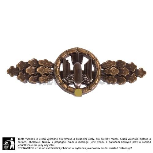 WL - Frontová letecká spona pro posádku bombardérů - bronzová