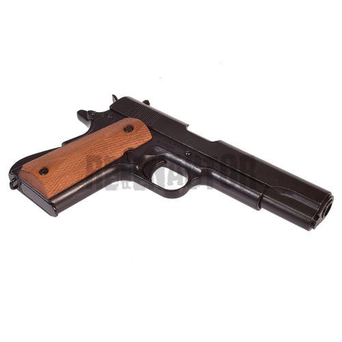 Pistole Colt M1911A1 dřevené střenky - plně rozebiratelná