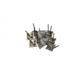 Hodnostní pyramidy stříbné - hvězdy Dienstgradstern