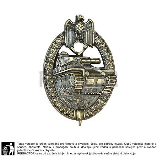 WH Panzerkampfabzeichen - Tankový bojový odznak v bronzu