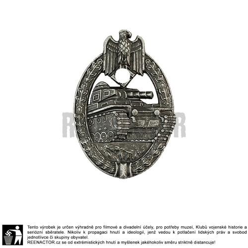 WH Panzerkampfabzeichen - Tankový bojový odznak ve stříbře