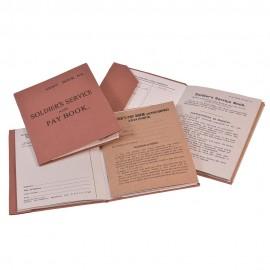 Britská vojenská knížka - Soldiers service and Pay Book