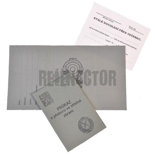 Dekret k výkonnostnímu střeleckému odznaku čs. armády
