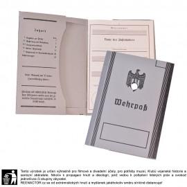 Wehrpass - knížka brance 1934-38