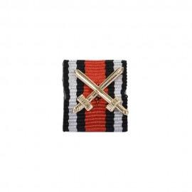 Stužka na lištu - Čestný kříž pro frontové bojovníky 1914-18 s meči