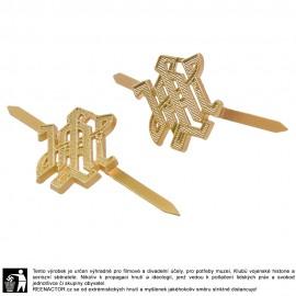 Kovové odznaky na nárameníky LAH - zlaté