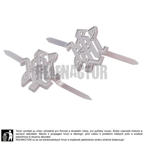 Kovové odznaky na nárameníky LAH - stříbrné