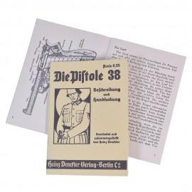 Brožura k německé pistoli Walther P38