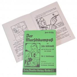 Brožura k německému vojenskému kompasu - Marschkompass
