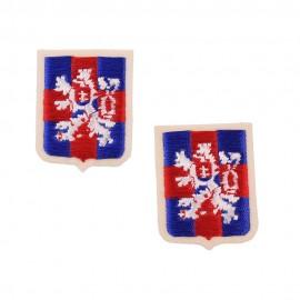 Rukávový znak Československé samostatné obrněné brigády ve Velké Británii CIABG - vyšívaný