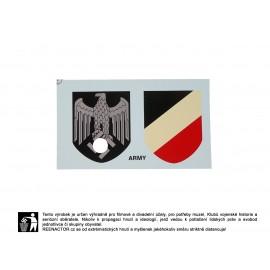 Obtisky na přilby - dekály pro Wehrmacht Heer
