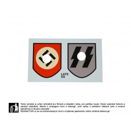 Obtisky na přilby - dekály pro Waffen SS 1. vzor