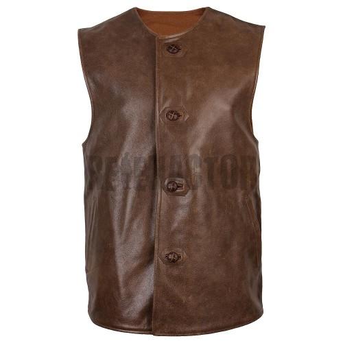 Britská kožená vesta - JERKIN