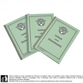 Soldbuch Ordnungspolizei - požitková knížka a osobní doklad pořádkové policie