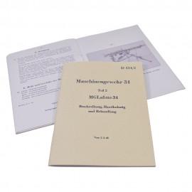 Příručka D124/2 pro obsluhu lafetace ke kulometu MG-34