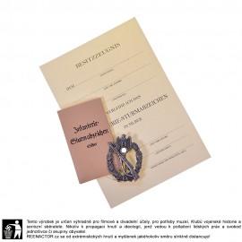 Útočný odznak pěchoty stříbrný - Infanterie Sturmabzeichen - lisovaný plech