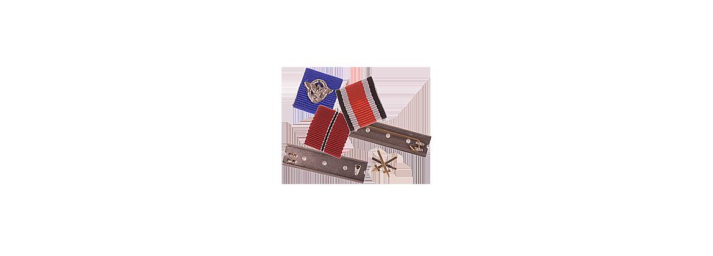 Jednotlivé miniatury stužek, lišty a doplňky - Ordensbleche